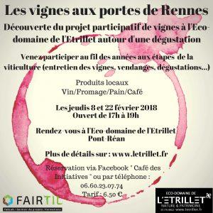 Dégustation vin, présentation du projet vignes